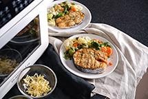 Стейк из мяса и рыбы в аэрофритюрнице Rawmid RMA-12