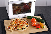 Пицца в аэрофритюрнице Rawmid RMA-12
