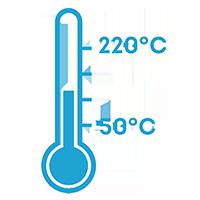 Широкий диапазон температуры